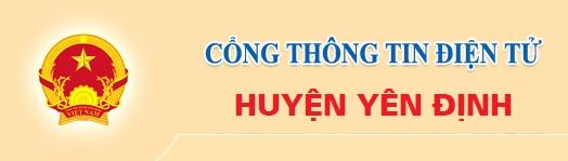 Cổng thông tin điện tử huyện Yên Định